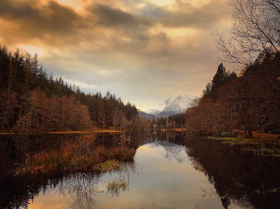 Glencoe Photograph - Glencoe Lochan Dusk by Kevin Hunter