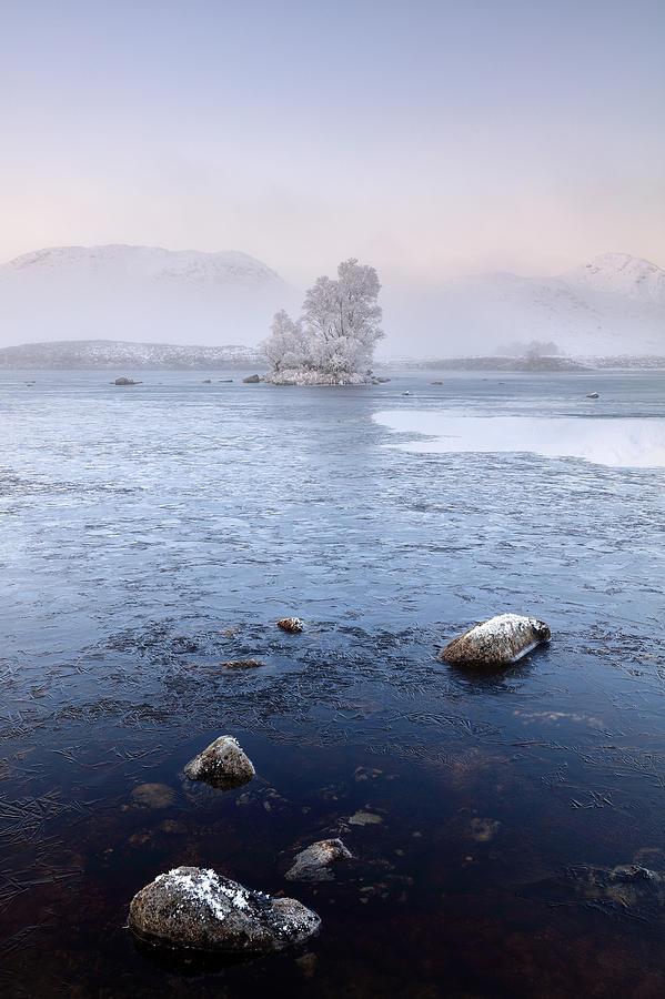 Glencoe Photograph - Glencoe Misty Winter Sunrise by Grant Glendinning