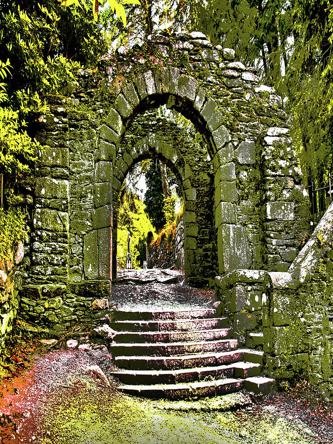 Glendalough Archway, Wicklow, Ireland Poster Effect1a Digital Art ...