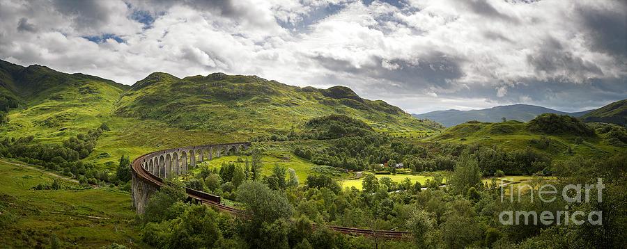 Glenfinnan Photograph - Glenfinnan Viaduct panorama by Jane Rix