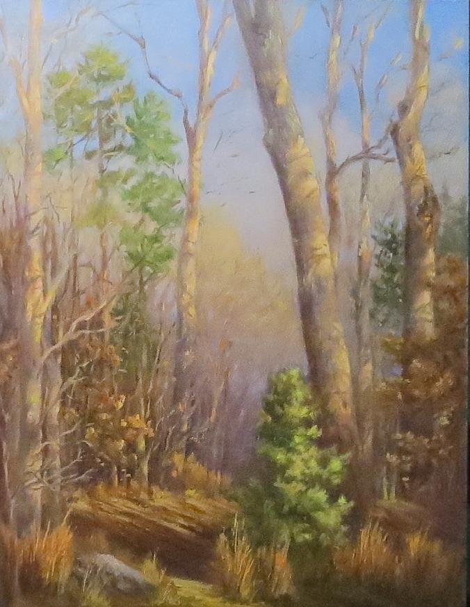 Forest Painting - Glenmoor Woods, Sunset by Inka Zamoyska