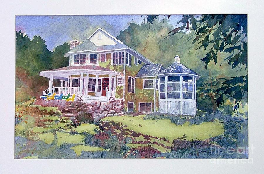 Cottage Painting - Glenn Cottage by Michael Lyzenga