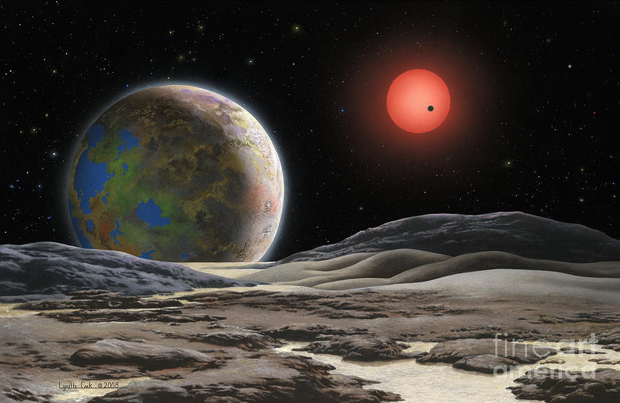 Lynette Cook Painting - Gliese 581 C by Lynette Cook