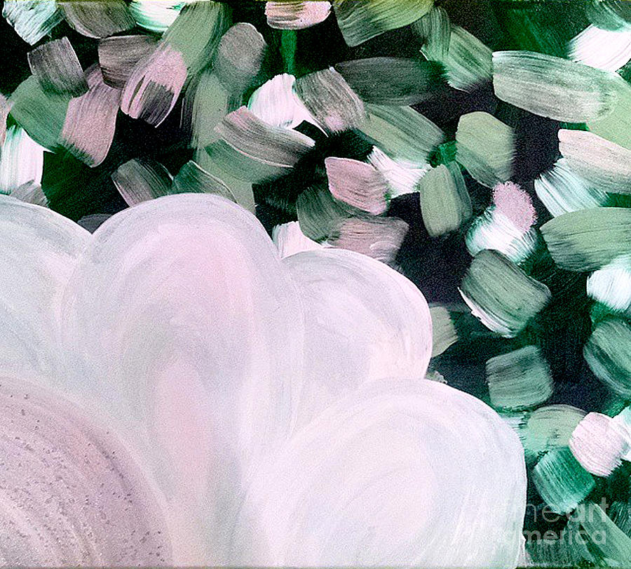Abstract Painting - Glimmering Petals by Jilian Cramb - AMothersFineArt