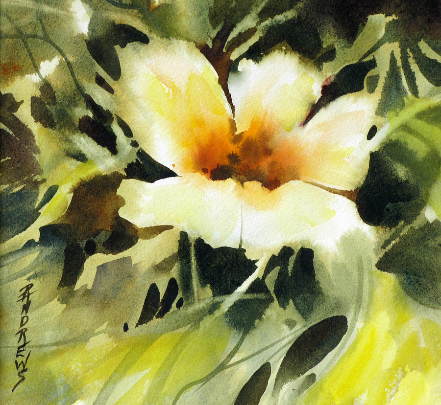 Floral Painting - Glimpse by Rae Andrews