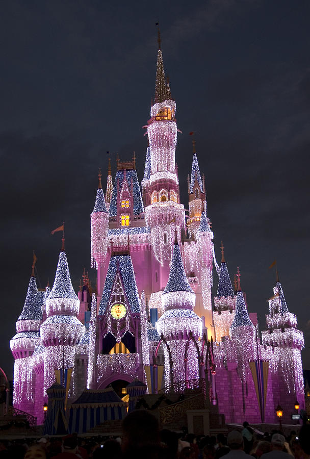 Walt Disney World Photograph - Glittering Cinderella Castle by Charles  Ridgway
