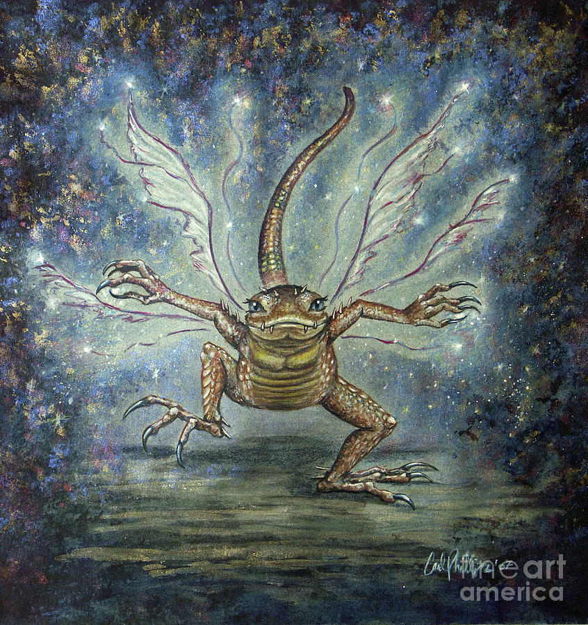 Fairy Mixed Media - Glitterkin by Carol Phillips