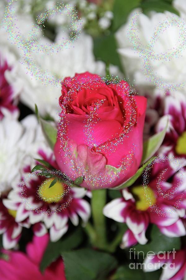 Glittery Florals Photograph
