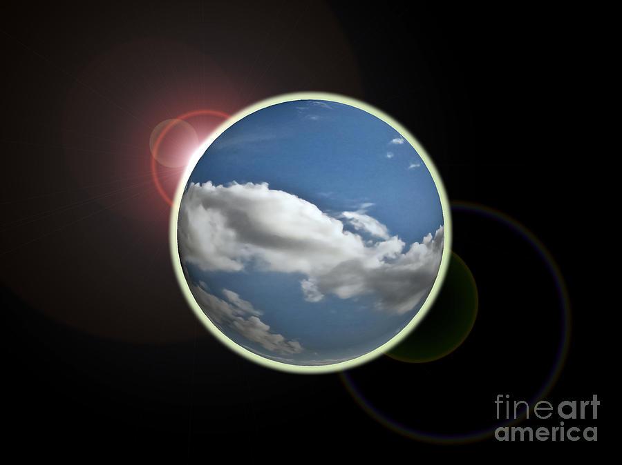 Science Photograph - Global Eclipse by Cathy Mounts