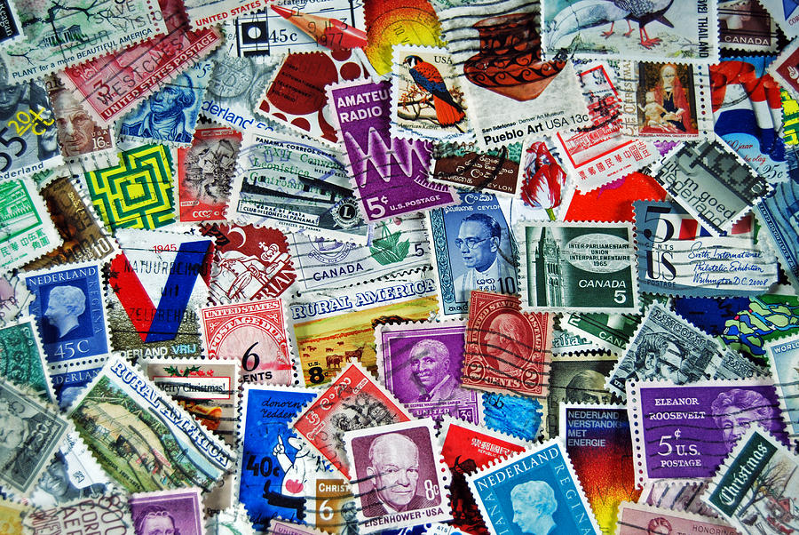 Stamp Photograph - Global  by Maria Dryfhout