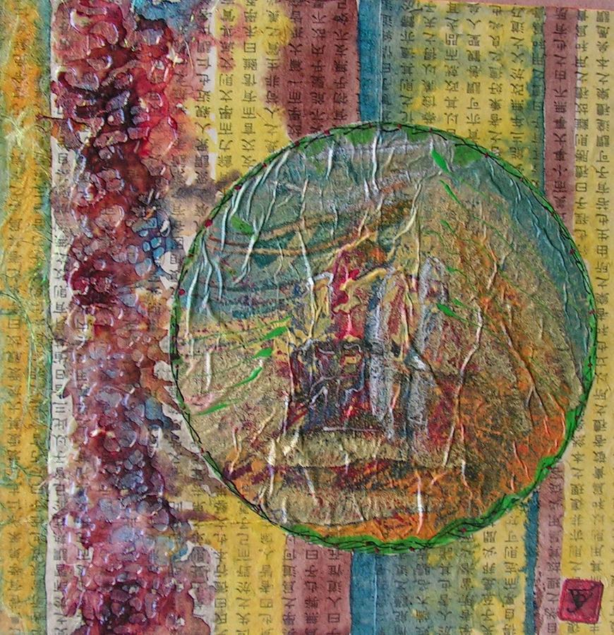 Abstract Painting - Globas Series 2 by John Vandebrooke