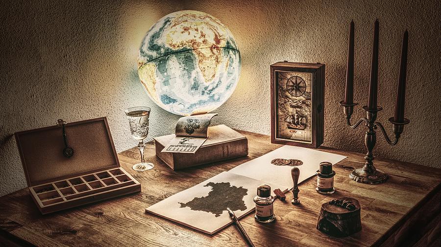Globe Photograph - Globe by Carlene Smith