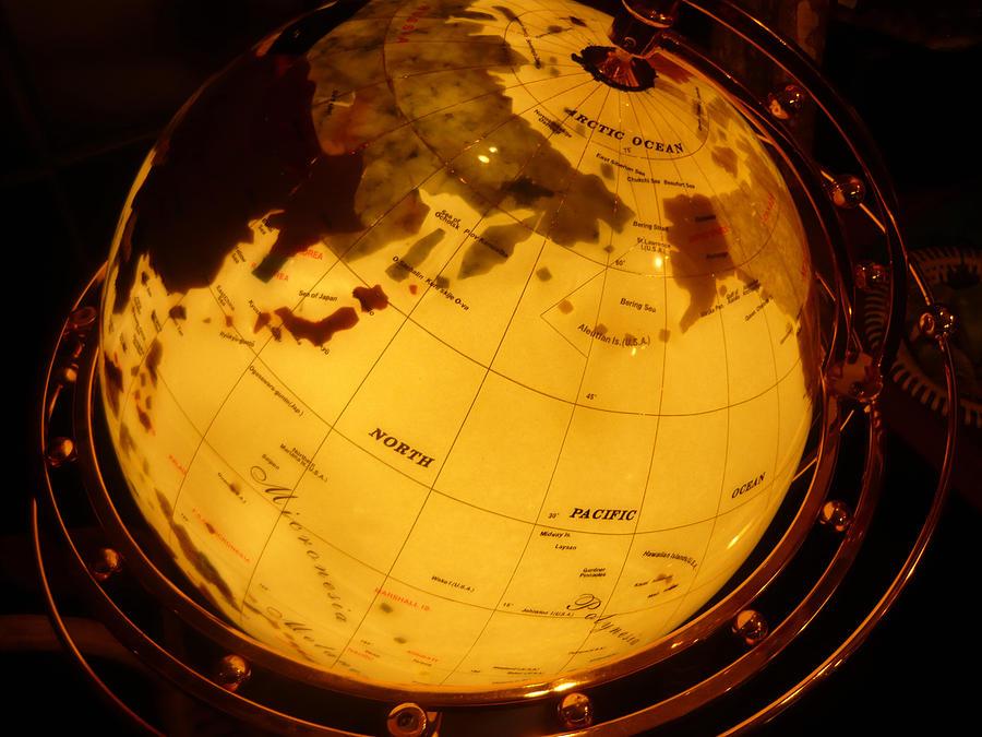 Globes Photograph - Globe Light One by Katherine Adams