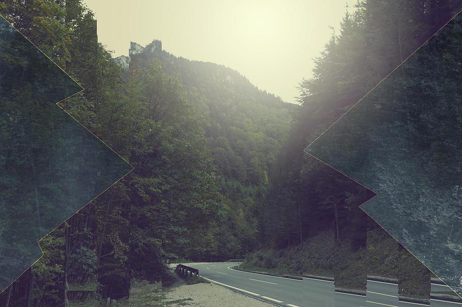 Gloomy Mountains Mixed Media