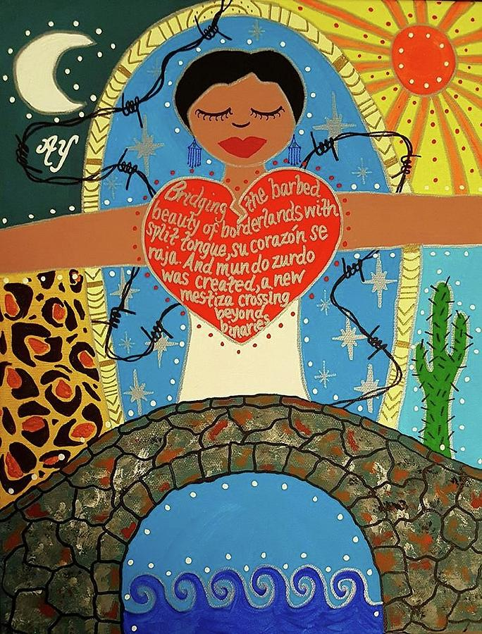 Holy Painting - Gloria Anzaldua by Angela Yarber