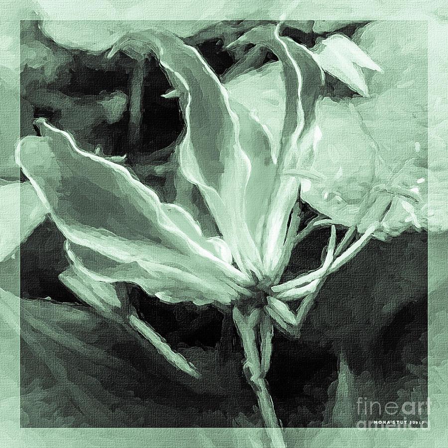 Gloriosa Superba Flame Lily Going Green Mixed Media