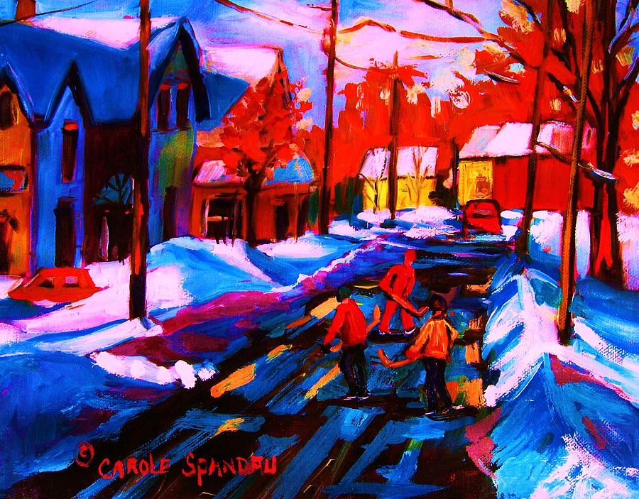 Landscape Painting - Glorious Day For A Game by Carole Spandau