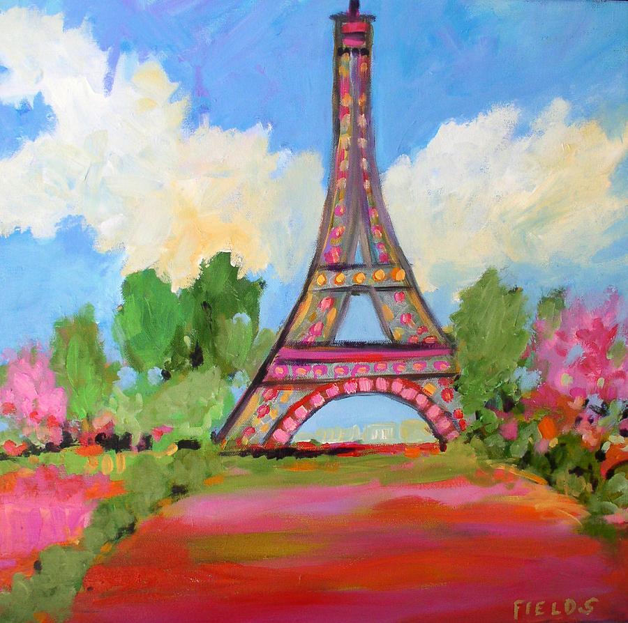 Glorious Eiffel Tower Painting By Karen Fields