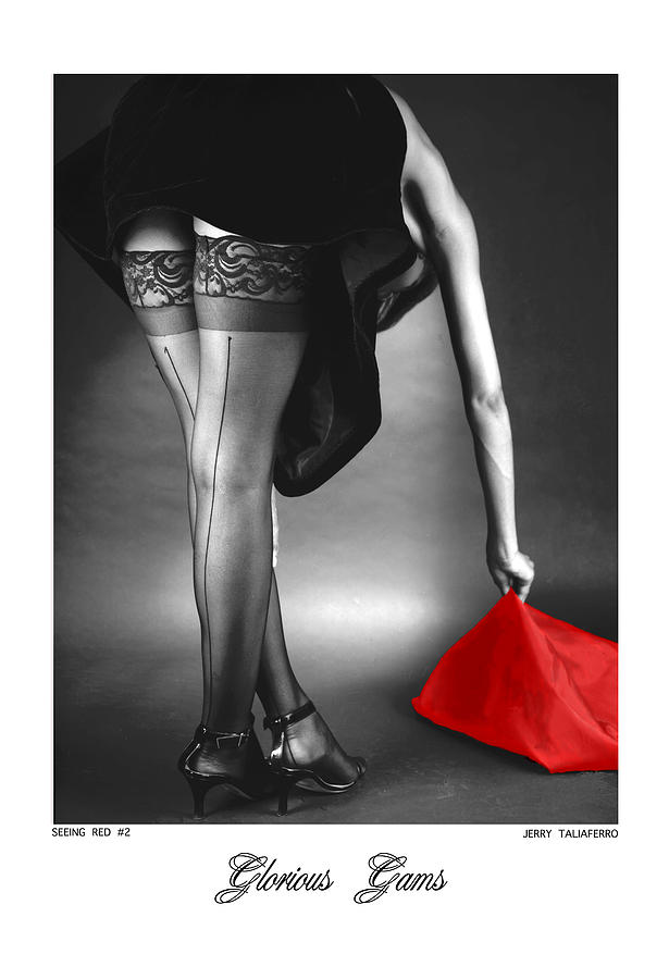 Figure Photograph - Glorious Gams - Seeing Red by Jerry Taliaferro