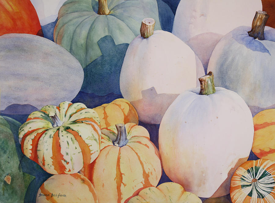 Still Life Painting - Glorious Gourds by Brenda Beck Fisher