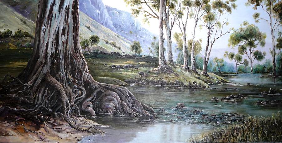 Gums Painting - Glorious Gums - Flinders Ranges by Diko