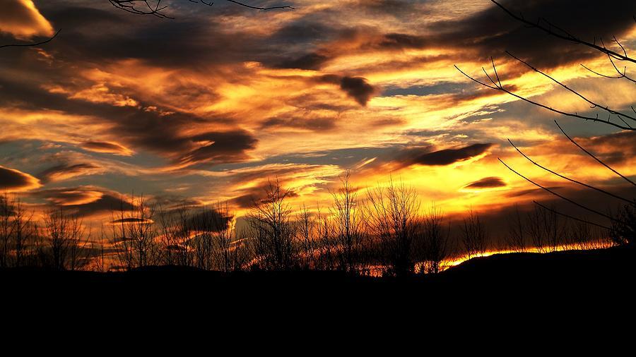 Glorious Maine Sunset Photograph