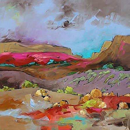 Original Painting - Glorious Southwest by Linda Monfort
