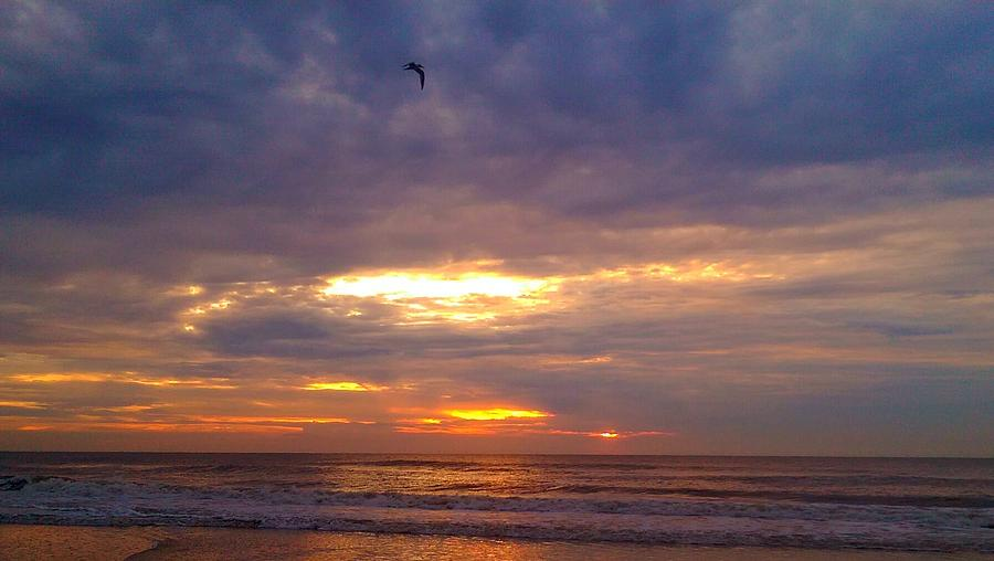 Beach Photograph - Glorious Sunrise by Mary Lewis