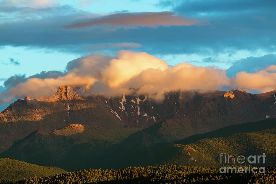 Glorious Sunset On Pikes Peak Photograph