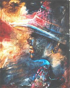 Portrait Painting - Glorious Sunshine by Tina Siddiqui
