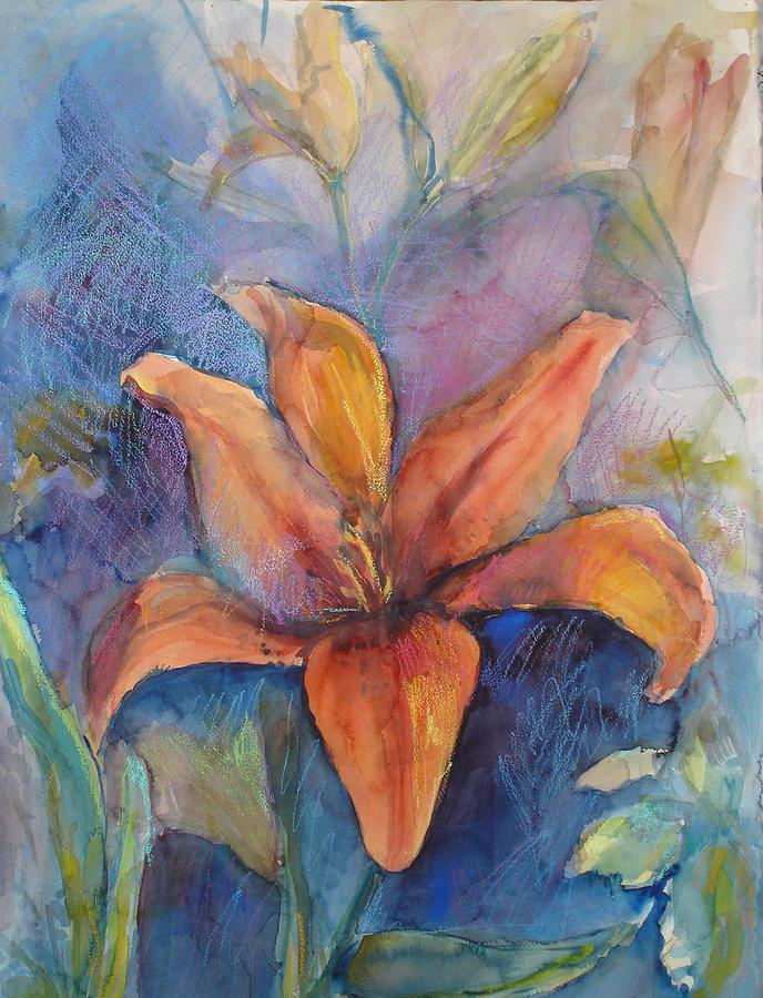 Lily Painting - Glorius Lily by Joyce Kanyuk
