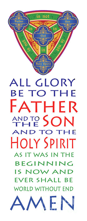 Catholic Digital Art - Glory Be Prayer by Lawrence Klimecki