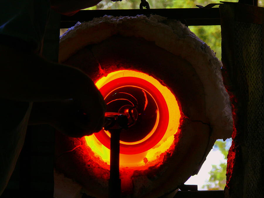 Glass Blowing Photograph - Glory Hole by Kirk Long