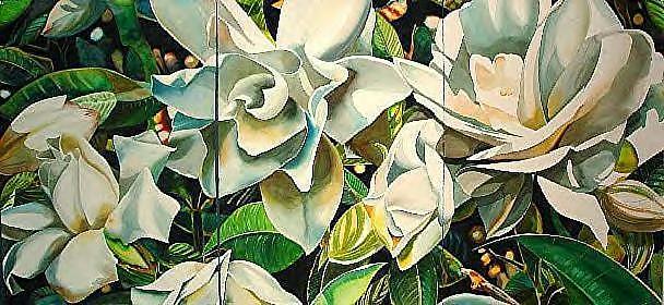Gardenia Painting - Glory by Lelia DeMello