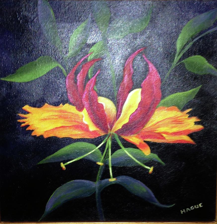 Glory lily painting by peggy hague flowers painting glory lily by peggy hague izmirmasajfo