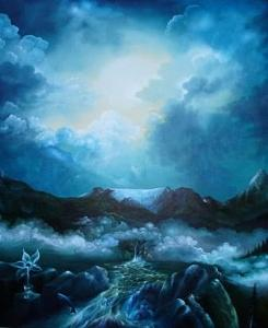 Glory Of The Glacier Painting by Horst Loewel