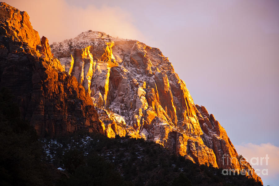 Outdoors Photograph - Glory Of Zion I by Irene Abdou