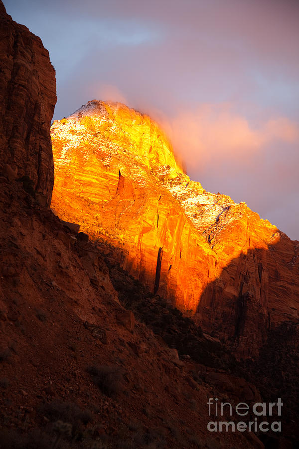 Outdoors Photograph - Glory Of Zion II by Irene Abdou