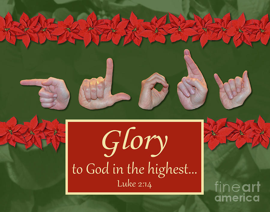 Christian Photograph - Glory To God by Masters Hand Collection