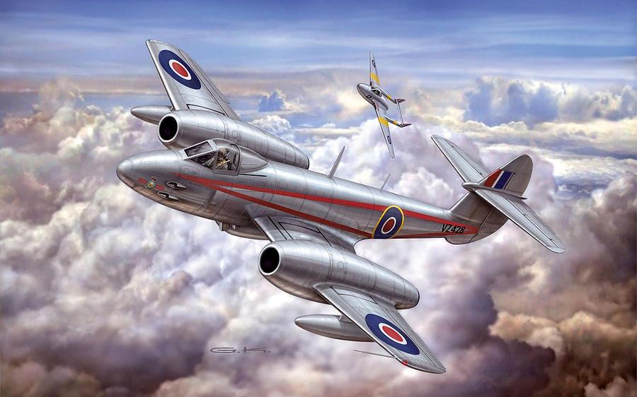 Gloster Meteor Digital Art - Gloster Meteor by Dorothy Binder