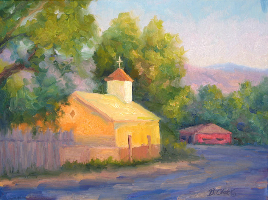 Landscape Painting - Glow At Vespers by Bunny Oliver