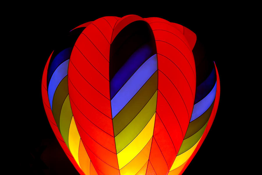 Hot Air Balloon Photograph - Glow By Night by Gary Smith