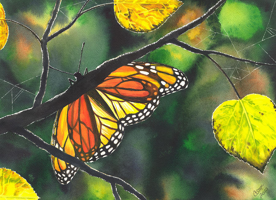 Butterfly Painting - Glow by Catherine G McElroy