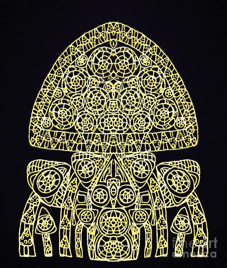 Hybrid Black Digital Art by Sharon Bigland