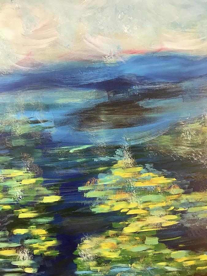 Pond Painting - Glow by Katy Flach
