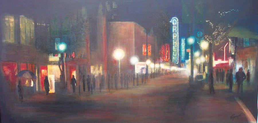 Downtown Painting - Glow by Victoria Heryet