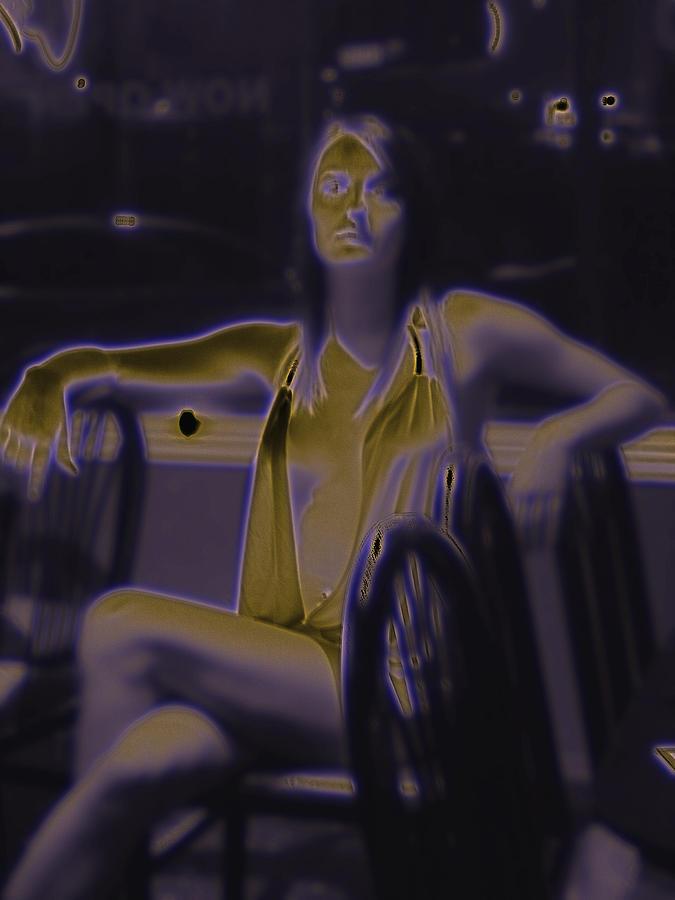 Portrait Digital Art - Glowing Brittney IIi by James Granberry