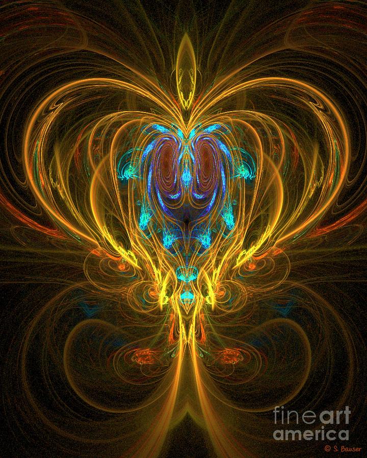 Glowing Digital Art - Glowing Chalise by Sandra Bauser Digital Art