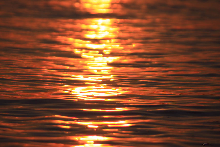 Sunset Photograph - Glowing Ripples by Karol Livote