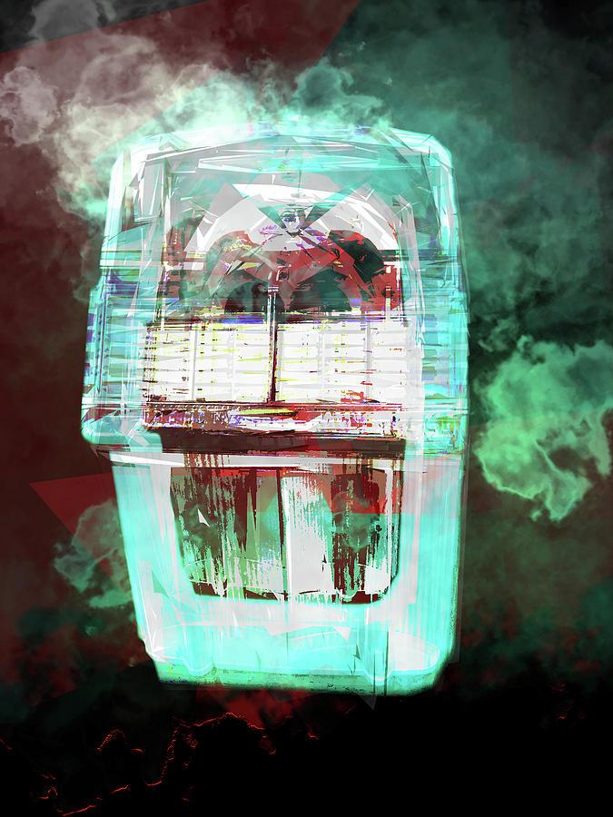 Digital Digital Art - Glowing Smokey Music by Poster Book